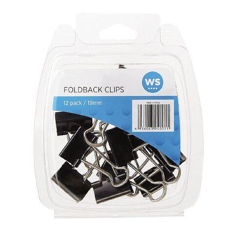 WS Foldback Clips 19mm 12 Pack