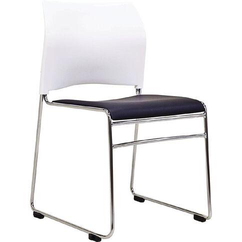 Buro Seating Maxim Stacker Chair Black/White Black/White