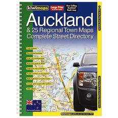 Auckland & 26 Regional Towns A4 Map Book