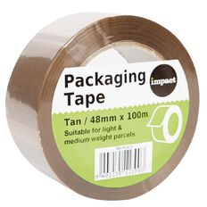 Impact Packaging Tape PP 48mm x 100m Tan