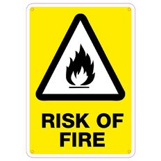 Impact Risk of Fire sign Small 340mm x 240mm