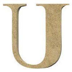Sullivans Mdf Board Alphabet Letter 17cm U Brown