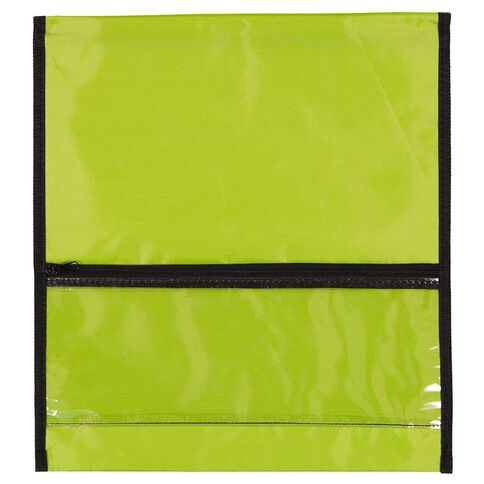 GBP Stationery Book Bag Zipper Pocket Green 370mm x 335mm