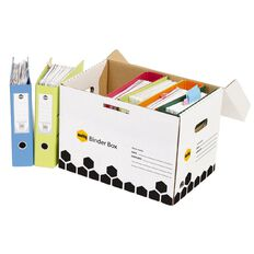 Marbig Archive Binder Box Single Wrapped White