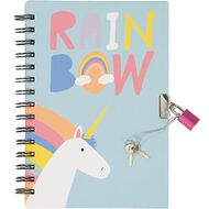 Kookie Rainbow Notebook Hardcover With Lock A5