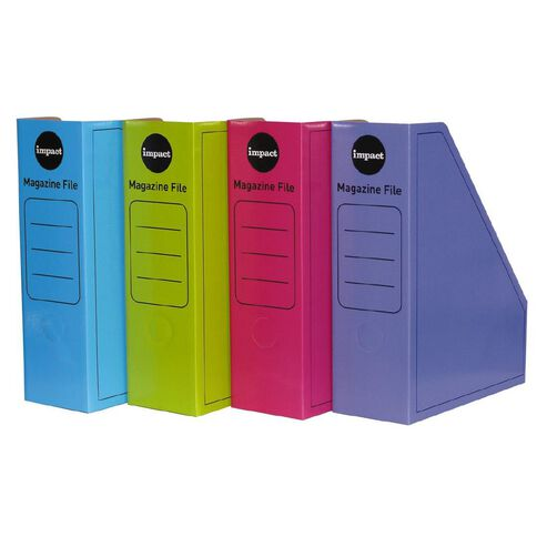 Impact Magazine File 2 Pack Neon Assorted