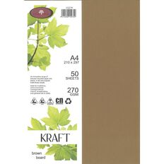 Direct Paper Enviro Board 270gsm 50 Pack Kraft Brown A4