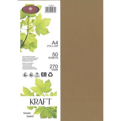 Direct Paper Enviro Board 270gsm 50 Pack Kraft Brown A4
