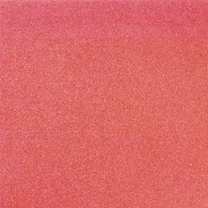 American Crafts Cardstock Glitter Medium 12 x 12 Neon Coral Pink