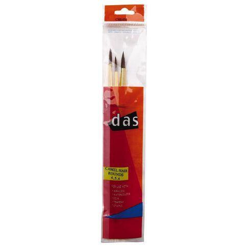 DAS Camel Hair Round #4 #5 #6 Multi-Coloured