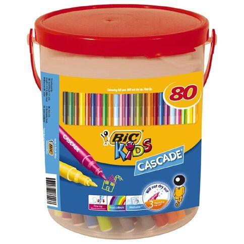 Bic Cascade Felts Bucket of 80 80 Pack