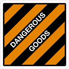 Impact Dangerous Goods Sign Large 610mm x 610mm