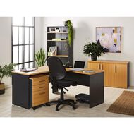 Workspace Office Brand Mobile 3 Drawer Tawa
