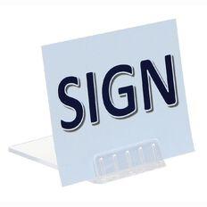 Deflecto Sign Holder Base Slanted 5cm Pack 10 Clear
