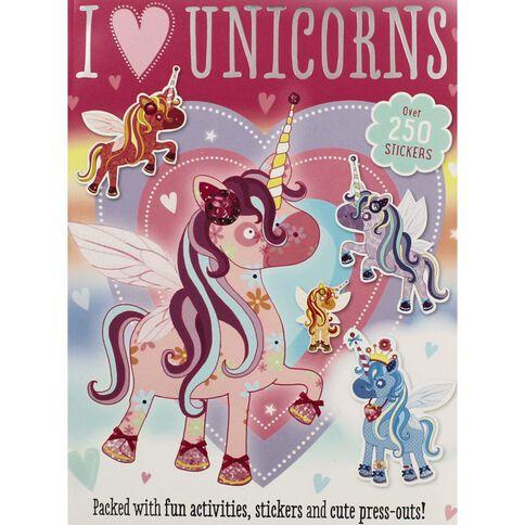 I Love Unicorns Sticker Activity Book