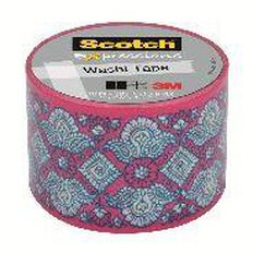 Scotch Washi Craft Tape 30mm x 10m Lace Pink