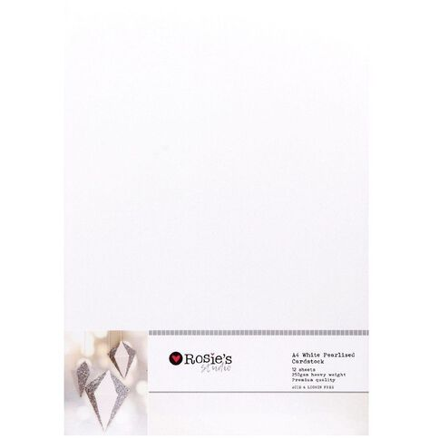 Rosie's Studio Value Cardstock Textured 216g 30 Pack Vivid A4