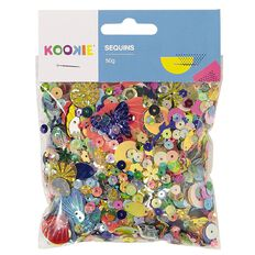 Kookie Sequins Multi-Coloured 50g