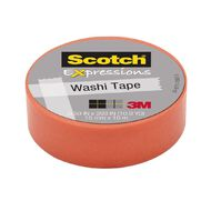 Scotch Washi Craft Tape 15mm x 10m Pastel Orange