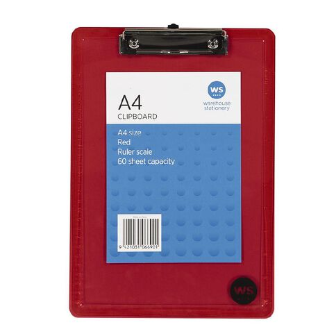 WS Clipboard Red A4