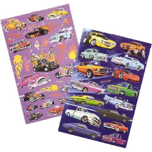 Kookie Sticker Book 6 Page Custom Cars