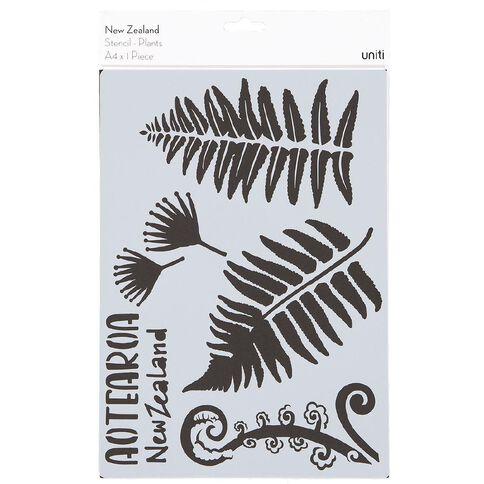 Uniti New Zealand Stencil A4 Plants