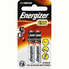 Energizer E96 AAAA Batteries 2 Pack
