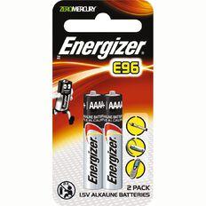 Energizer E96 AAAA Batteries 2 Pack