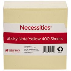 No Brand Sticky Notes Yellow 7.5cm x 7.5cm 400 Sheets Yellow