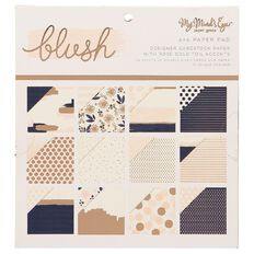 My Minds Eye Blush 6x6 Foiled Paper Pad
