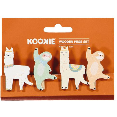 Kookie Novelty19 Wood Pegs Set 4 Pack