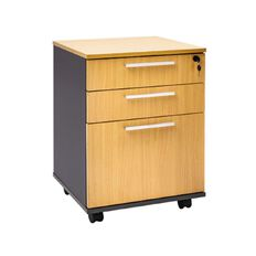 Jasper J Emerge Mobile 3 Drawer Beech/Ironstone