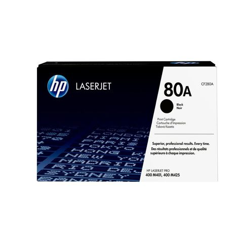 HP Toner 80A Black (2700 Pages)