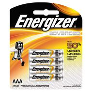 Energizer Max Plus Battery AAA 4 Pack