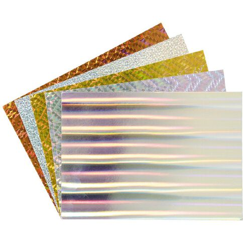 U-Do Paper Holographic 10 Pack Multi-Coloured A4