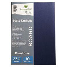 Direct Paper Paris Emboss 230gsm A4 10 Pack Royal Blue