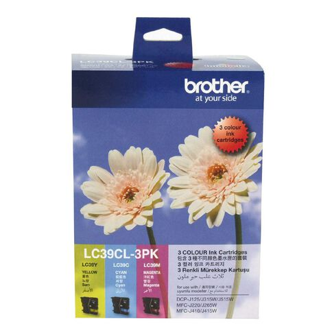 Brother Ink LC39 Colour 3 Pack (260 pages)