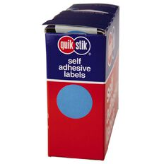 Quik Stik Labels Dots Mc24 500 Pack Blue