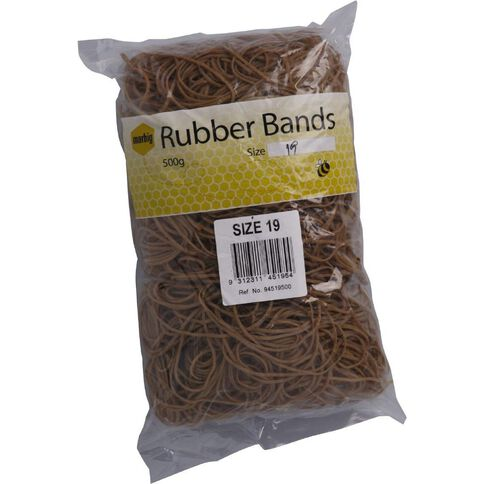 Marbig Rubber Bands 500g #19 Brown