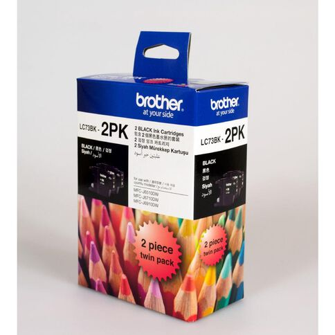 Brother Ink LC73 Black 2 Pack (600 pages)