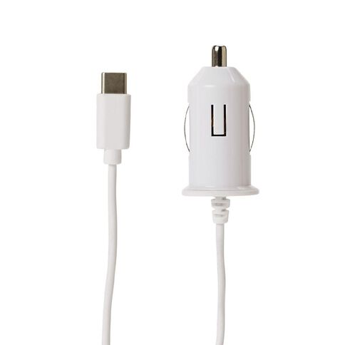 Tech.Inc USB-C Car Charger 1A White
