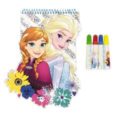 Frozen Shaped Notebook With Markers