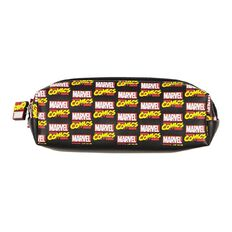 Marvel Kids Marvel Comics Barrel Pencil Case Black