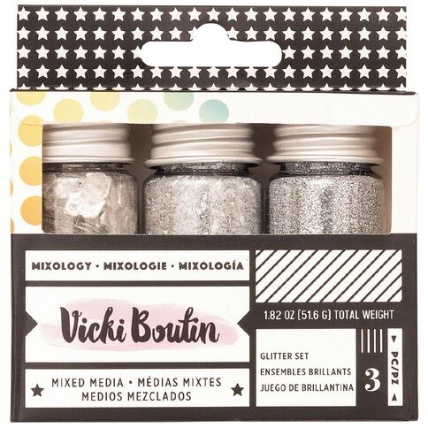 American Crafts Vicky Boutin Mixology Silver 3 Pack