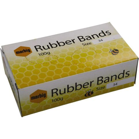 Marbig Rubber Bands 100g Packet #34 Brown