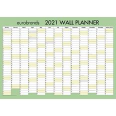 Eurobrands 2021 Wall Planner Non-Laminated (700x990mm) Large