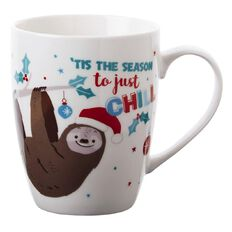 Artwrap Christmas Boxed Mug Sloth 350ml/12 Oz