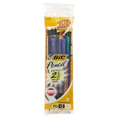 Bic Mechanical Pencils 5 Pack Multi-Coloured