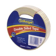 Sellotape Double Sided Tape 24mm x 33m Clear