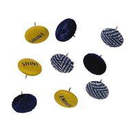 Uniti Fun & Funky Q4 Push Pins Fabric Thumb Tacks